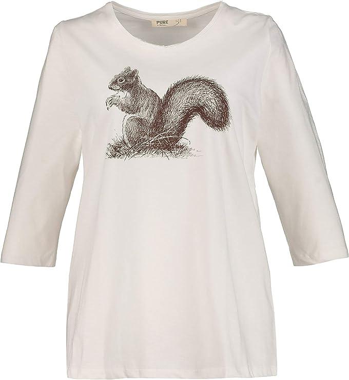 Ulla Popken 724373 - Camiseta de manga corta para mujer (talla ...