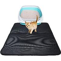 "H HOME-MART Cat Litter Mat Litter Trapper Large Size 27.55"" x21.65"", Honeycomb Double-Layer Design Waterproof Urine…"