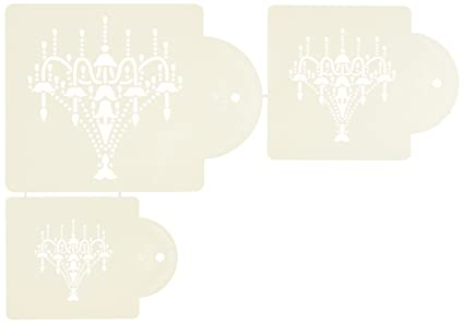 Buy chandelier stencil set cake stencils by designer stencils online chandelier stencil set cake stencils by designer stencils aloadofball Image collections