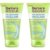 Barbara Gould - Gel Exfoliant Micellaire - Nettoyant à l'eau quotidien - Tube de 150 ml - Lot de 2