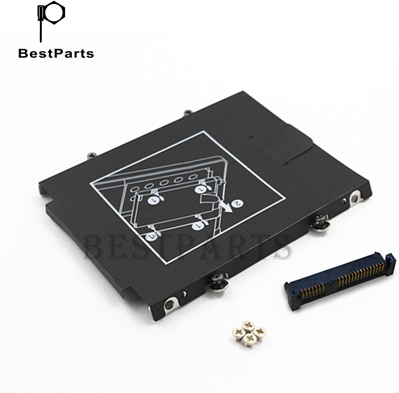 BestParts for HP EliteBook Folio 9470M 9480M Hard Drive Caddy + HDD Connector US