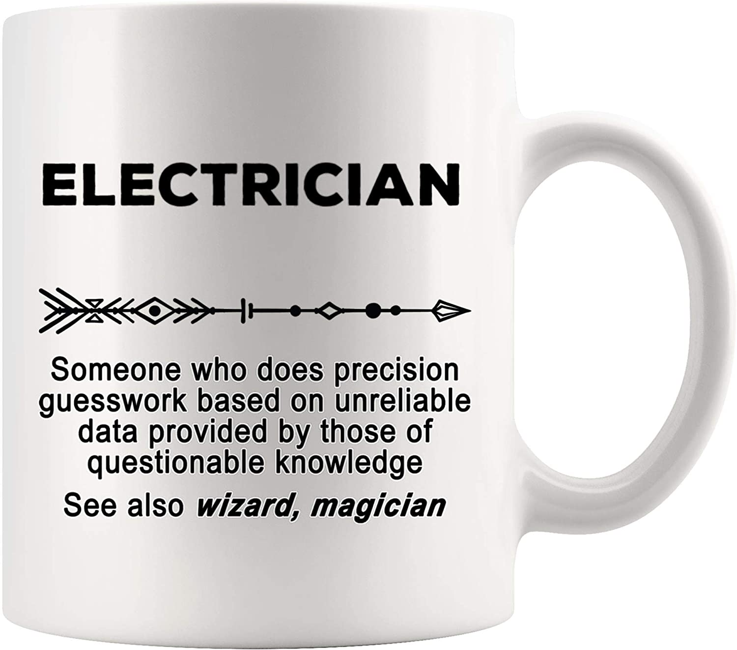 Electrician Hourly Rate Coffee Mug Electrical Engineer Father/'s Day Gag Gift