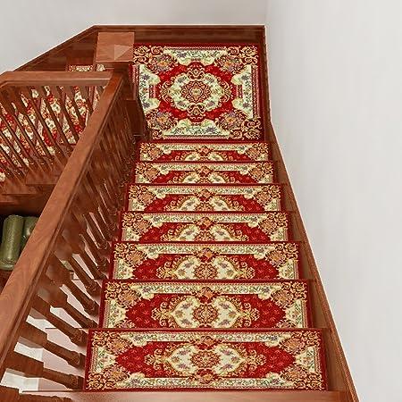 QFFL Escalera de Madera Maciza/autoadhesiva Escalera de Escalera/Rectangular Escalera Antideslizante sin Pegamento/Alfombra de Felpudo para el hogar (Un Paquete de 1) Escalera Paso Estera: Amazon.es: Hogar