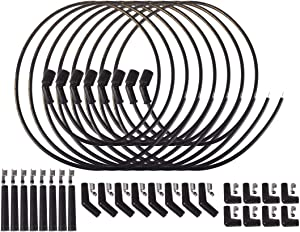 ICT Billet 5ft Universal Spark Plug Wire Set - LS LT Remote Coil Spiral Core Straight 90 135 Boots Compatible with LS1 LM7 LR4 LQ4 LS6 L59 LQ9 LM4 L33 LS2 L76 LY6 LC9 LH8 LMG LS3 LZ1 L99 L96 551083