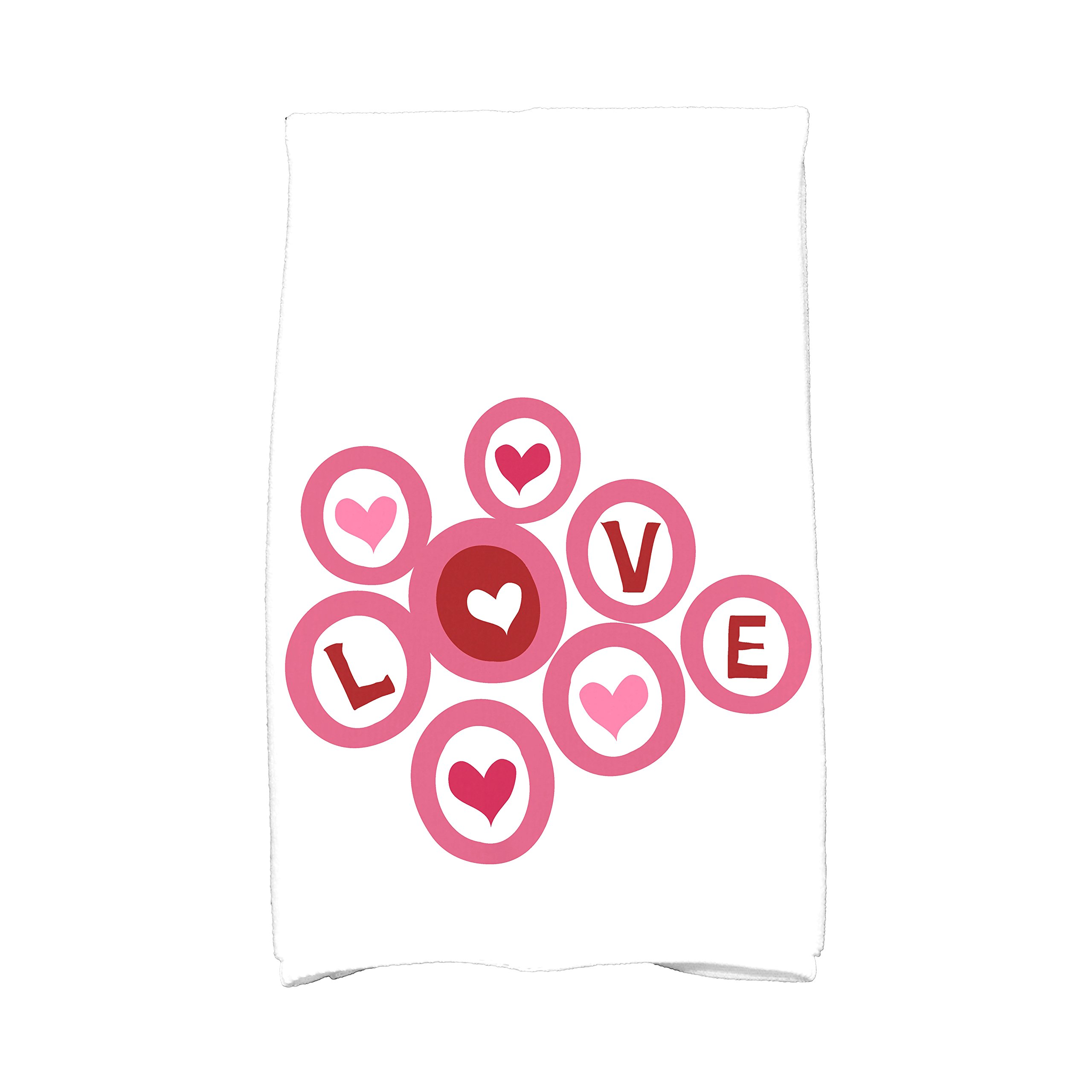 E By Design KTHG754PK5 Love in the Round, Holiday Kitchen Towel