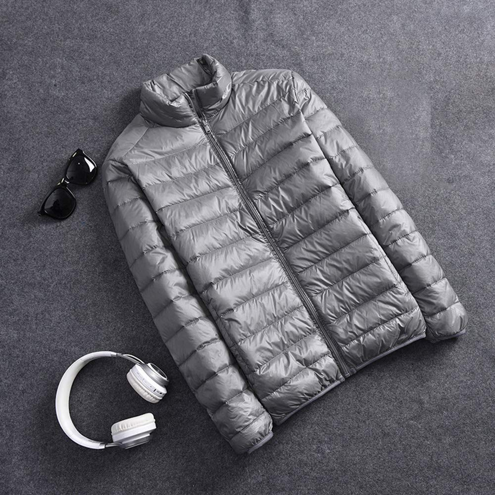 Yehopere Mens Down Jacket Packable Ultra Lightweight Outwear Short Puffer Down Coats