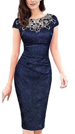 competitive price 60076 645c7 Donna Vestiti Tubino al Ginocchio Eleganti da Cerimonia ...