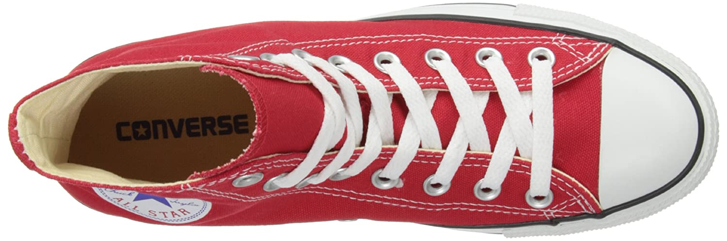 Amazon.com | Converse M9621: Chuck Taylor All Star High Top Unisex Red Classic Sneakers | Fashion Sneakers
