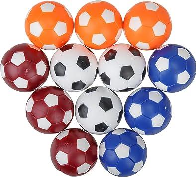 12 Pack pelotas de repuesto para mesa de futbolín de fútbol, Mini ...