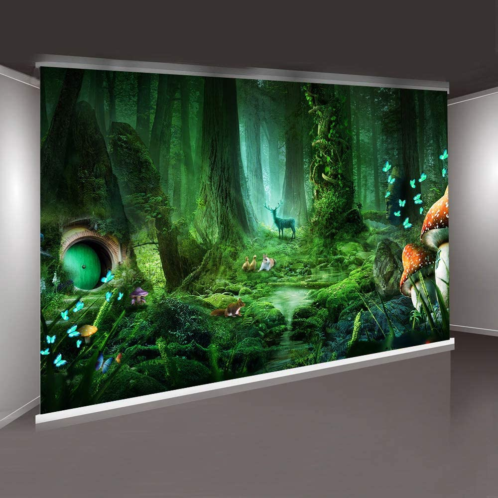 MME 10x7ft Magic Forest Backdrop Cartoon Call Background YouTube Photography Background Props ZYME061