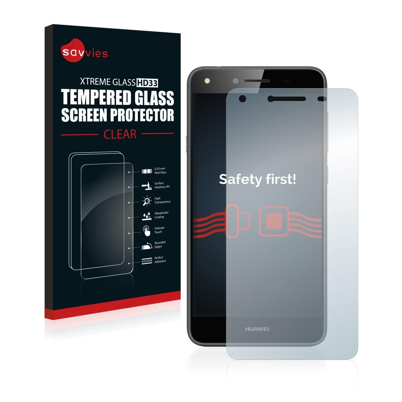 savvies Cristal Templado Compatible con Huawei Y6 II Compact ...