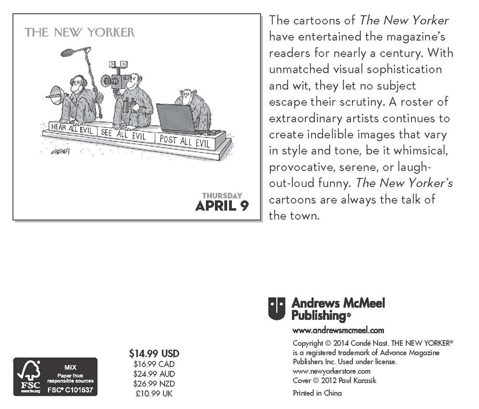 Cartoons from The New Yorker 2015 Day to Day Calendar Conde Nast