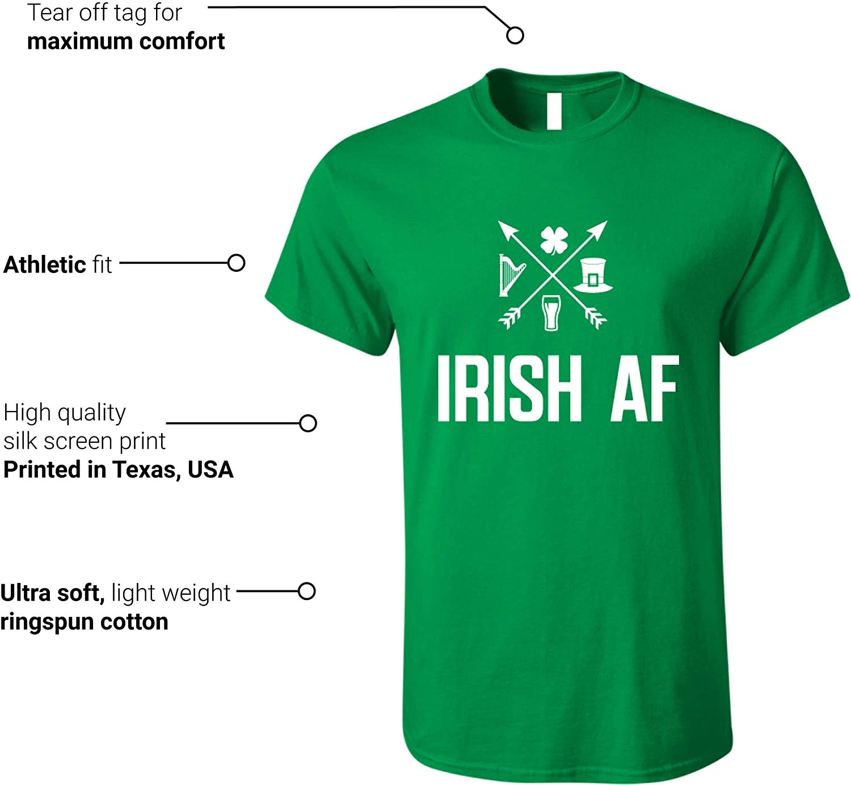 016429812 Amazon.com: GunShowTees Men's Irish AF St. Patrick's Day Shirt: Clothing