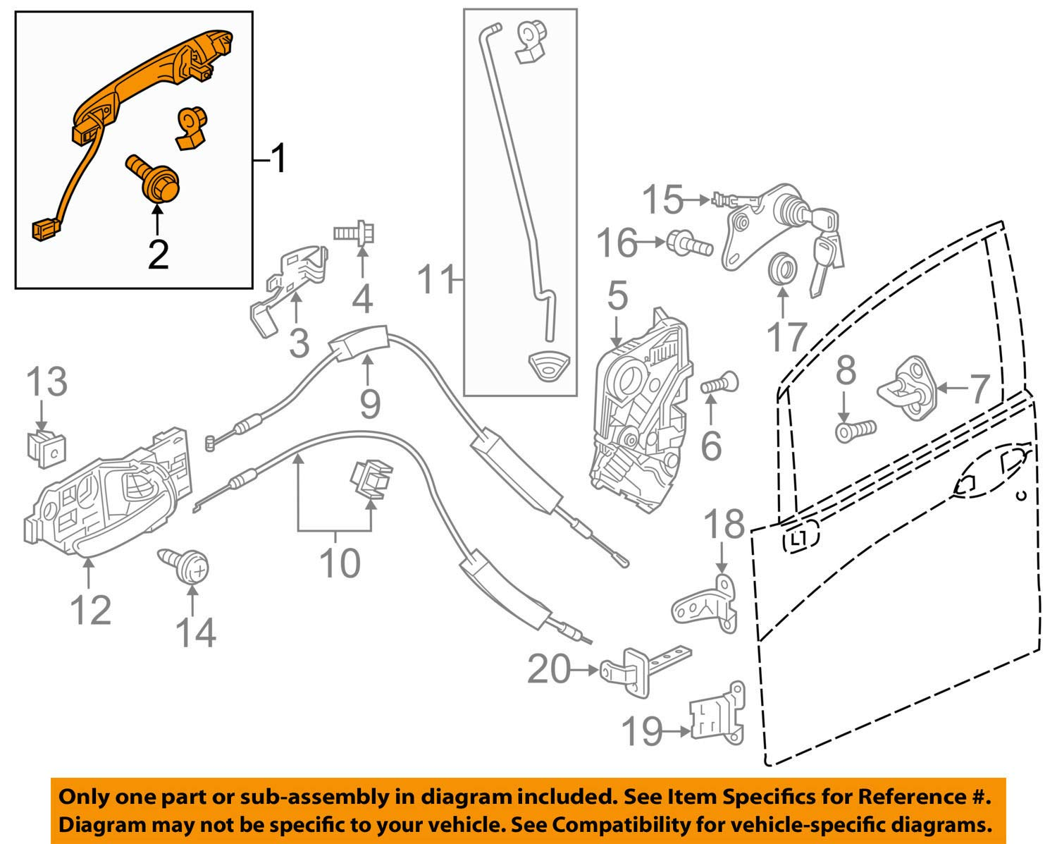Genuine Honda 72140-T5A-J01ZJ Door Handle Assembly Right Front