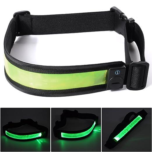 Xcellent Global Erwachsene Radfahren / Wandern Sicherheitsgurt Voll einstellbare Blinkende LED Lichter, Laufen, Radfahren, Wandern Ausrüstung M-FS018