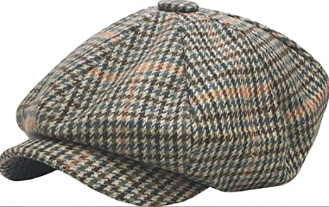 736a45e3f217f Image Unavailable. Image not available for. Color  Newsboy Cap Mens Ivy Hat  Golf Driving Ascot Winter Flat Cabbie ...