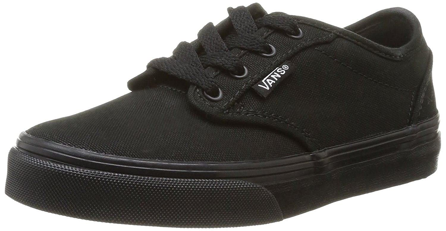 358ae97ae728 Amazon.com: Vans Shoes Atwood Canvas Black Sneakers Size 2 Kids-youth  0ki5186: Shoes