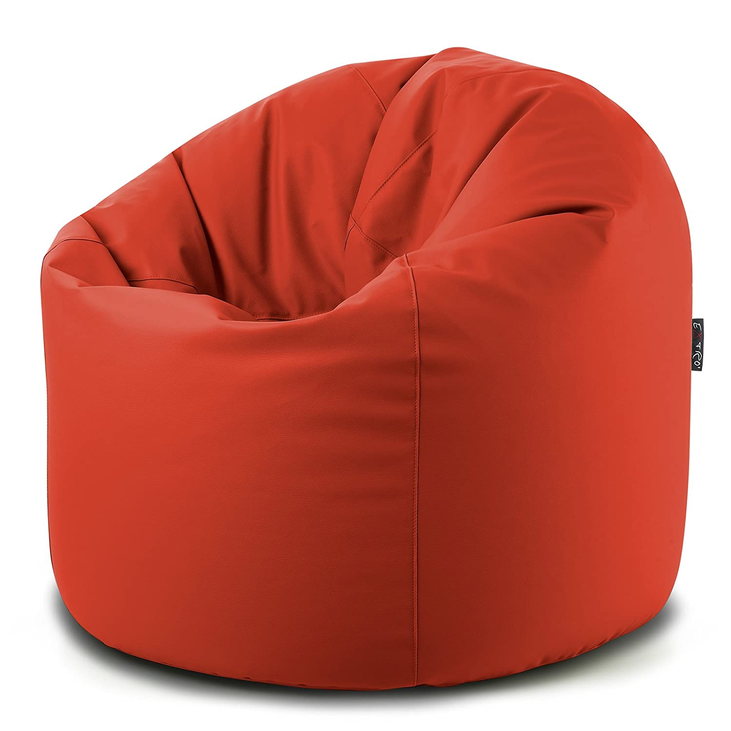 good xxl rosso sacco pouf vuoto senza polistirolo interno con lampo sul fondo per riempimento in. Black Bedroom Furniture Sets. Home Design Ideas