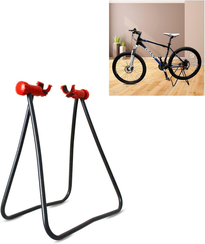YOSPOSS-soporte plegable para bicicleta, soporte de reparación mecánico para bicicleta, soporte de exhibición para exterior inclinado desigual carretera: Amazon.es: Bricolaje y herramientas