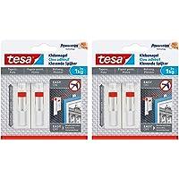Tesa Tesa Powerstrips Verstelbare plakspijker voor behang en pleisterwerk, zelfklevende spijker van 2 x 1 kg…