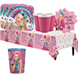 Another Dream JoJo Siwa Birthday Party Pack for 16 with Plates, Napkins, Cups, Tablecover, and a Favor Cup!