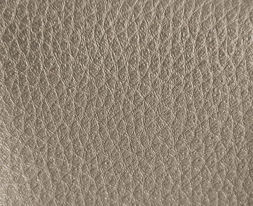 0,50 Metros de Polipiel para tapizar, Manualidades, Cojines o forrar Objetos. Venta de Polipiel por Metros. Diseño Luna Color Platino Ancho 140cm