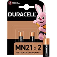 Duracell Pilas especiales alcalinas MN21 de 12 V, paquete de 2 unidades A23/23A/V23GA/LRV08/8LR932, diseñadas para su…