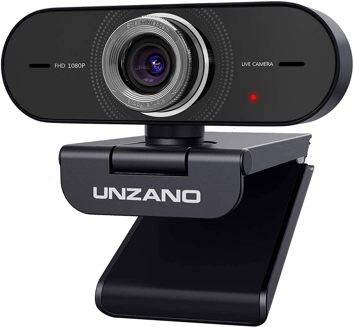 Webcam with Microphone, Full HD 1080P Web Camera for Mac/Windows Laptop/Desktop Computers, Plug&Play, Live Streaming Online Class Teaching, Video Conferencing/Calling/Recording, YouTube/Skype/Facebook