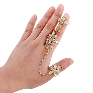 Amazon Multi Styles Adjustable Plating Gold Rings Double