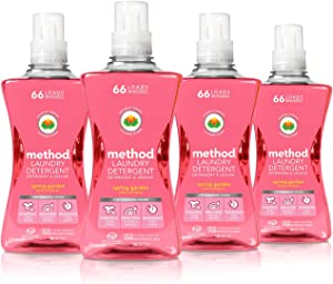 Method Concentrated Laundry Detergent, Spring Garden, 53.5 Fl Oz (Pack of 4)