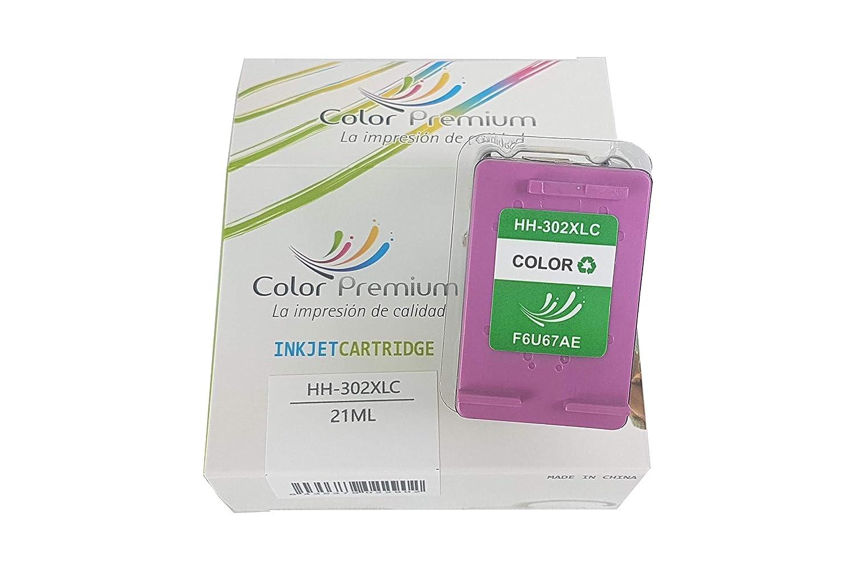 Cartucho de Tinta HP302 XL Reciclado F6U67AE (Tricolor): Amazon.es ...
