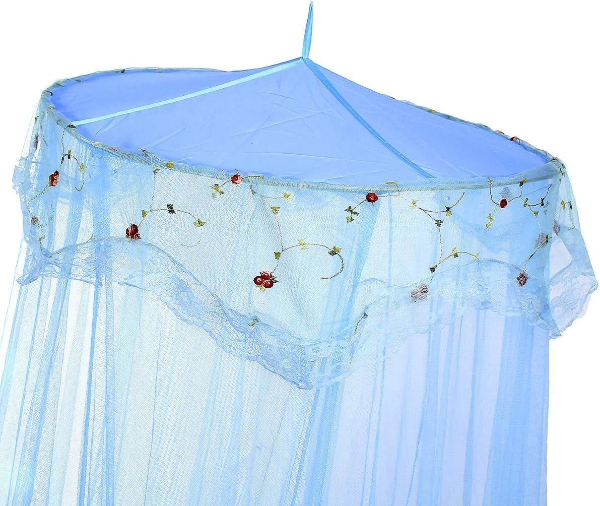Grande 260/cm Blanc Jeteven Ciel de Lit Moustiquaire Baldaquin Moustiquaire pour Lit Double B/éb/é Kid Enfants Maison ou pour Voyage
