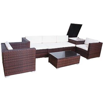 Super Amazon.de: SVITA Del Sol Poly Rattan Lounge Gartenset Sofa JV91
