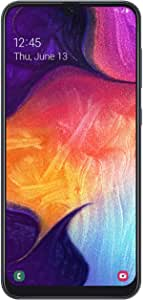 """Samsung Galaxy A50 US Version Factory Unlocked Cell Phone with 64GB Memory, 6.4"""" Screen, Black, [SM-A505UZKNXAA]"""