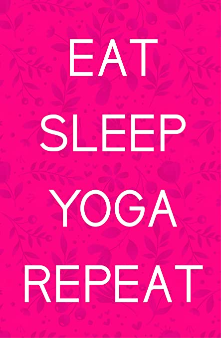 Amazon.com: Damdekoli Eat Sleep Yoga Poster, 11x17 inches ...
