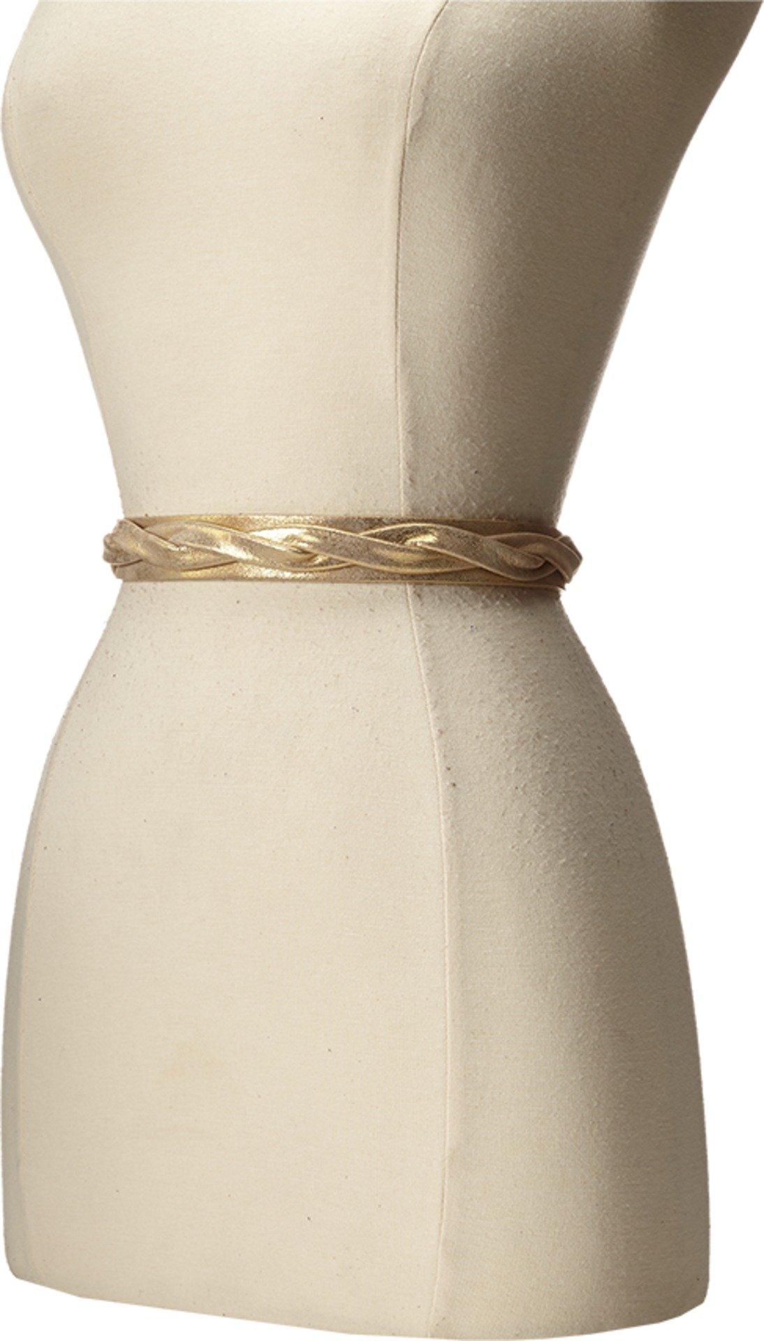 ADA Collection Women's Skinny Wrap Belt Gold Belt One Size