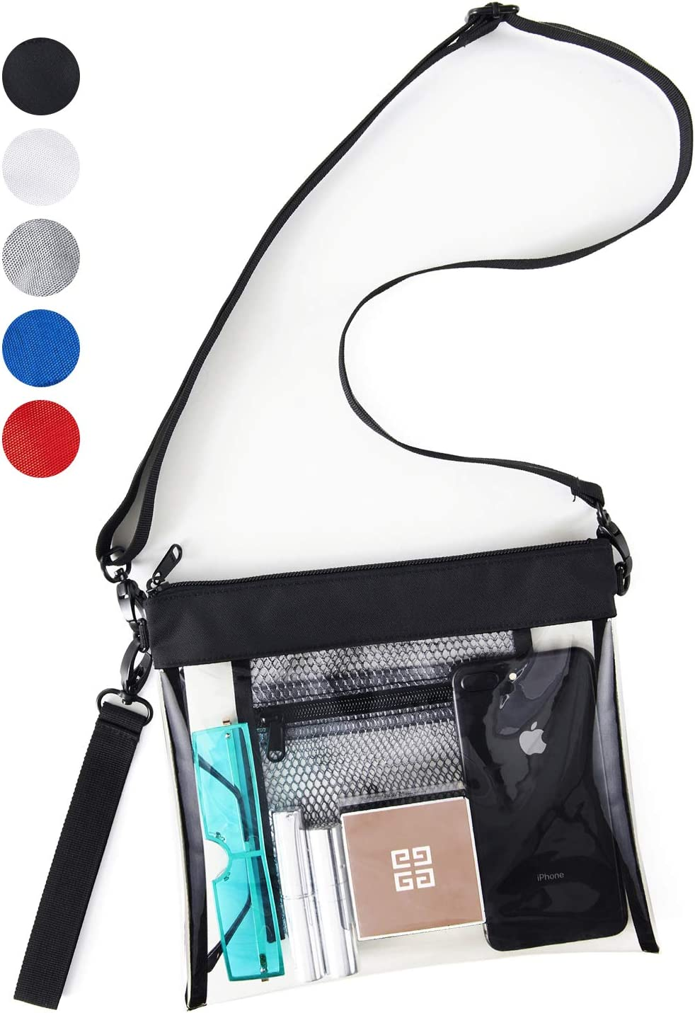 TPU Clear Cross-Body Purse Stadium Approves Clear Bag with Inner Pocket Sports