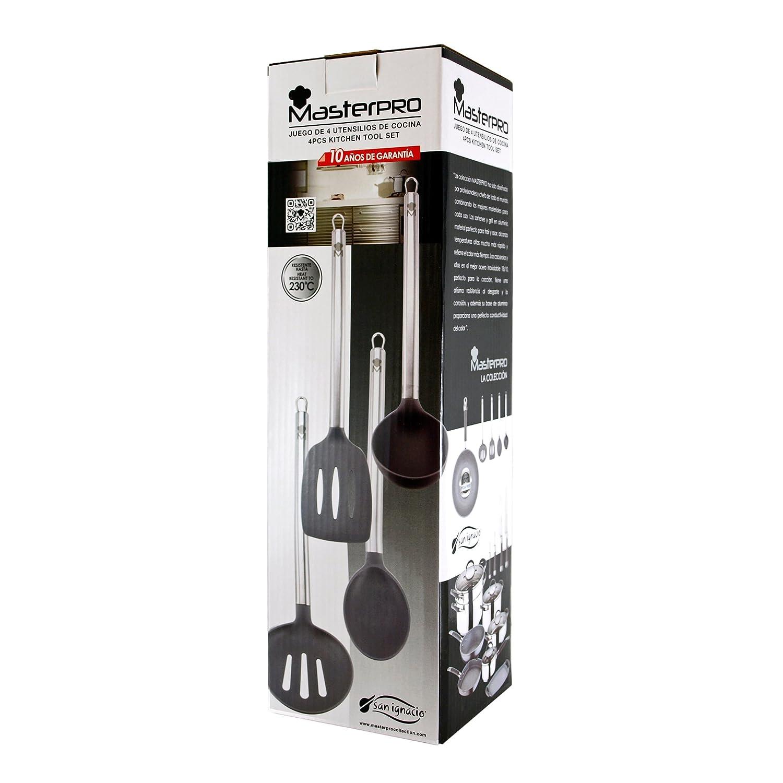 San Ignacio Masterpro - Set de 4 utensilios de cocina: Amazon.es: Hogar
