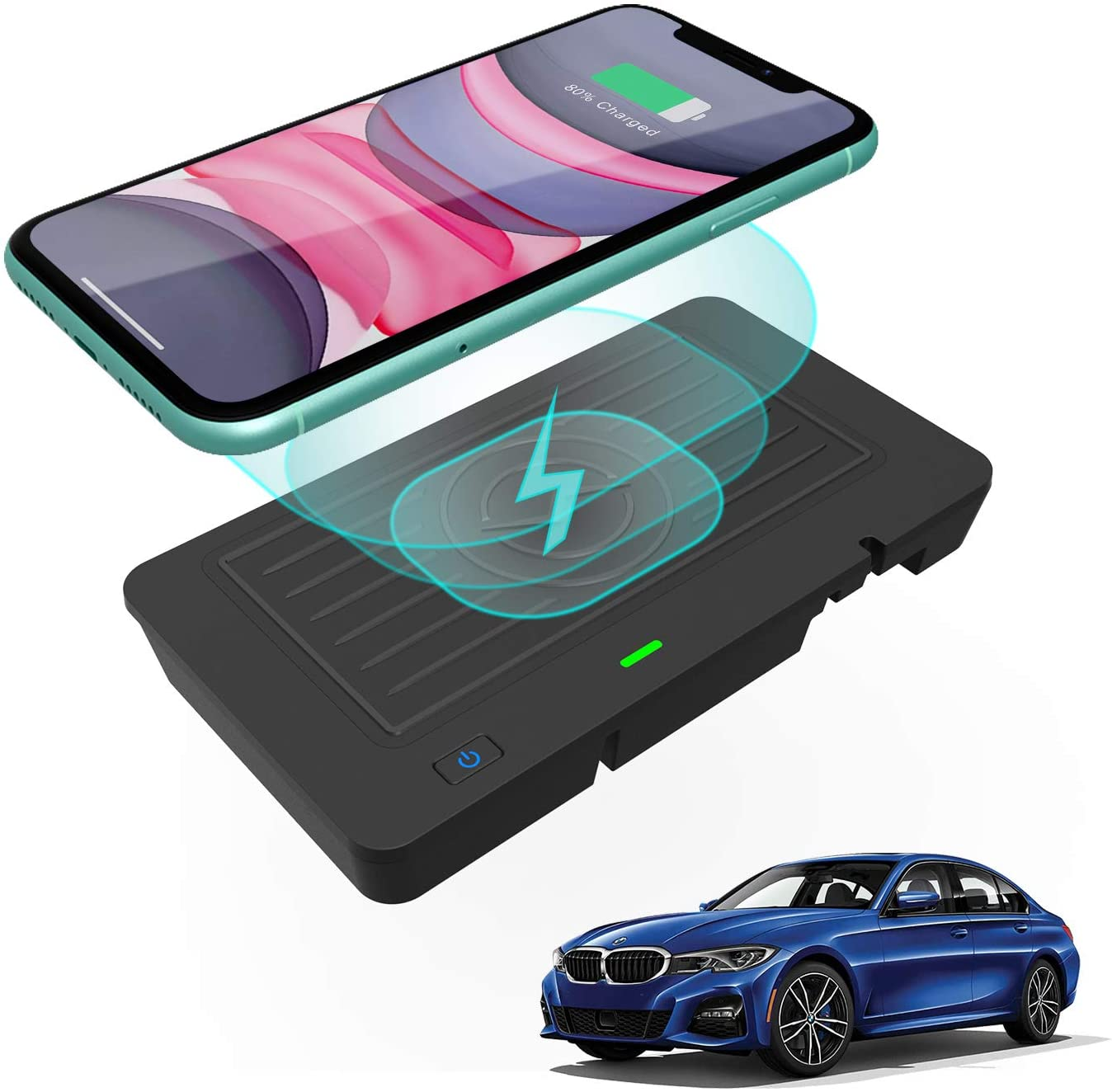 SIGHILL QI Wireless Car Charger 2013-2015 BMW Accessories for M3 M4 All Models of (2014-2020) 3 Series 320 328 335 4 Series420 428 435 Dock M4