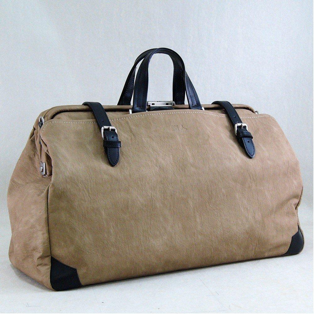 丁寧仕上げ鞄 ボストンバッグ ショルダー ダレス タイプなので、開口部が大きく開く 通勤通学 織人ダレスボストンバッグ 国産 トラベルバッグ 本革付属 ベージュ B00MYQO1IK