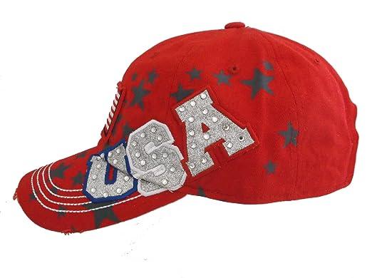 Estados Unidos patrióticos 4th de julio de Bling gorra de béisbol ...