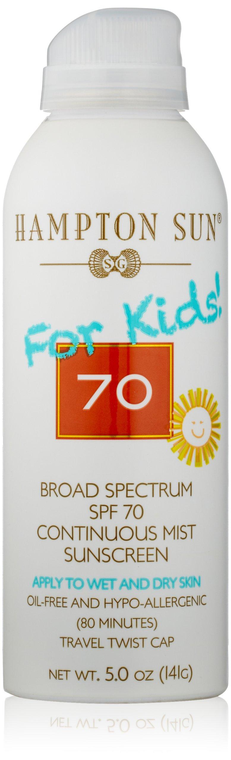 Hampton Sun SPF 70 for Kids Continuous Mist Sunscreen, 5 Oz by Hampton Sun