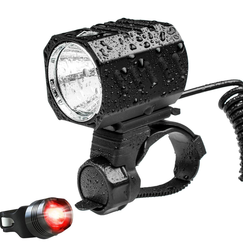 Kit Eclairage Vélo VTT Lumière Avant Arrière LED Rechargeable USB Puissant