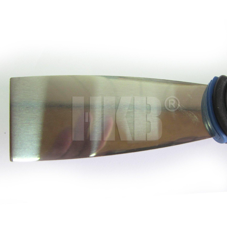 f/ür den professionellen Einsatz 20156 Artikel-Nr HKB /® 1 x Profi-Spachtel guter Halt auch bei feuchter Umgebung 215mm x 40mm schwarzer Edelstahl poliert griffiger Kunststoffgriff