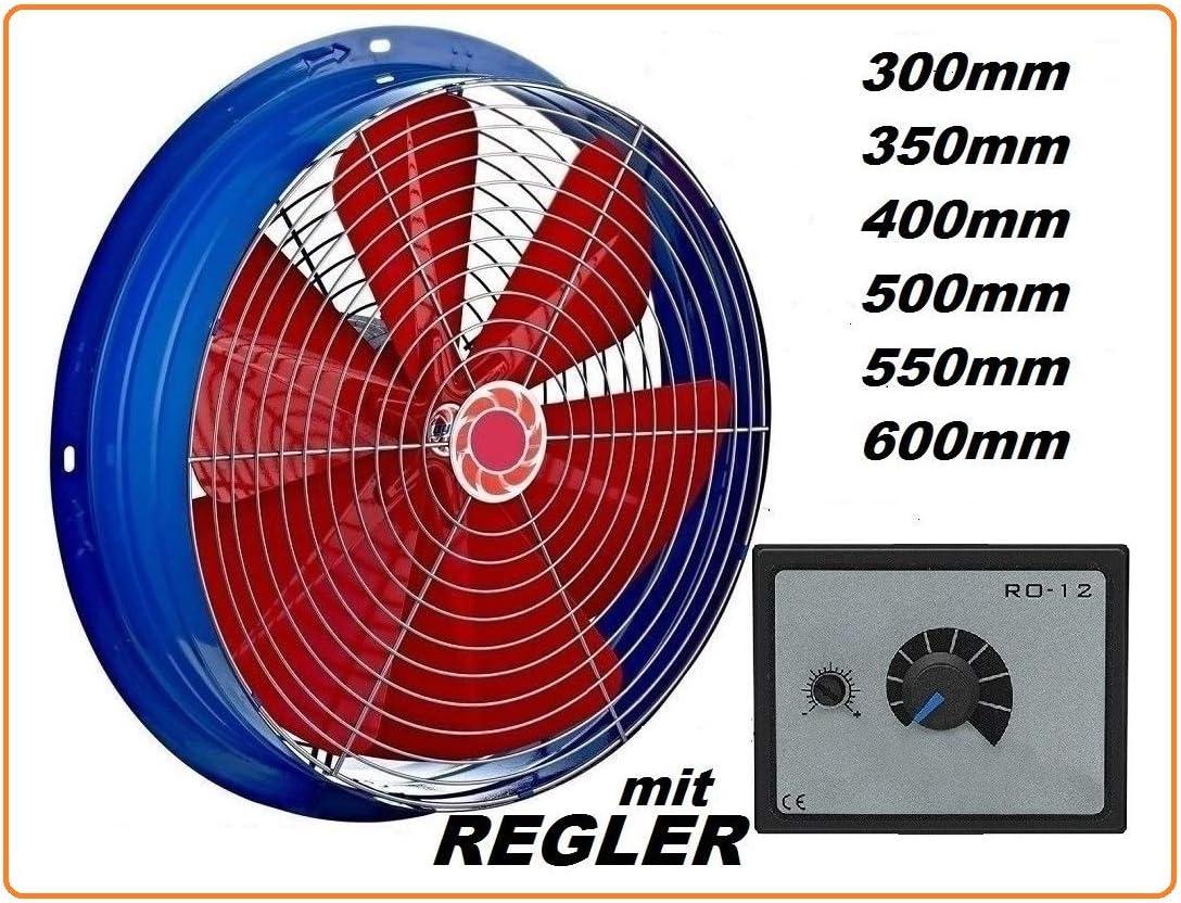 400mm Ventilador industrial con 500W Regulador de Velocidad Ventilación Extractor Ventiladores ventiladore industriales Axial axiales extractores aspiracion mura pared ventana