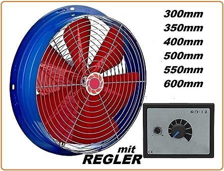 400mm Ventilador industrial con 500W Regulador de Velocidad Ventilación Extractor Ventiladores ventiladore industriales Axial axiales extractores aspiracion mura pared ventana: Amazon.es: Hogar
