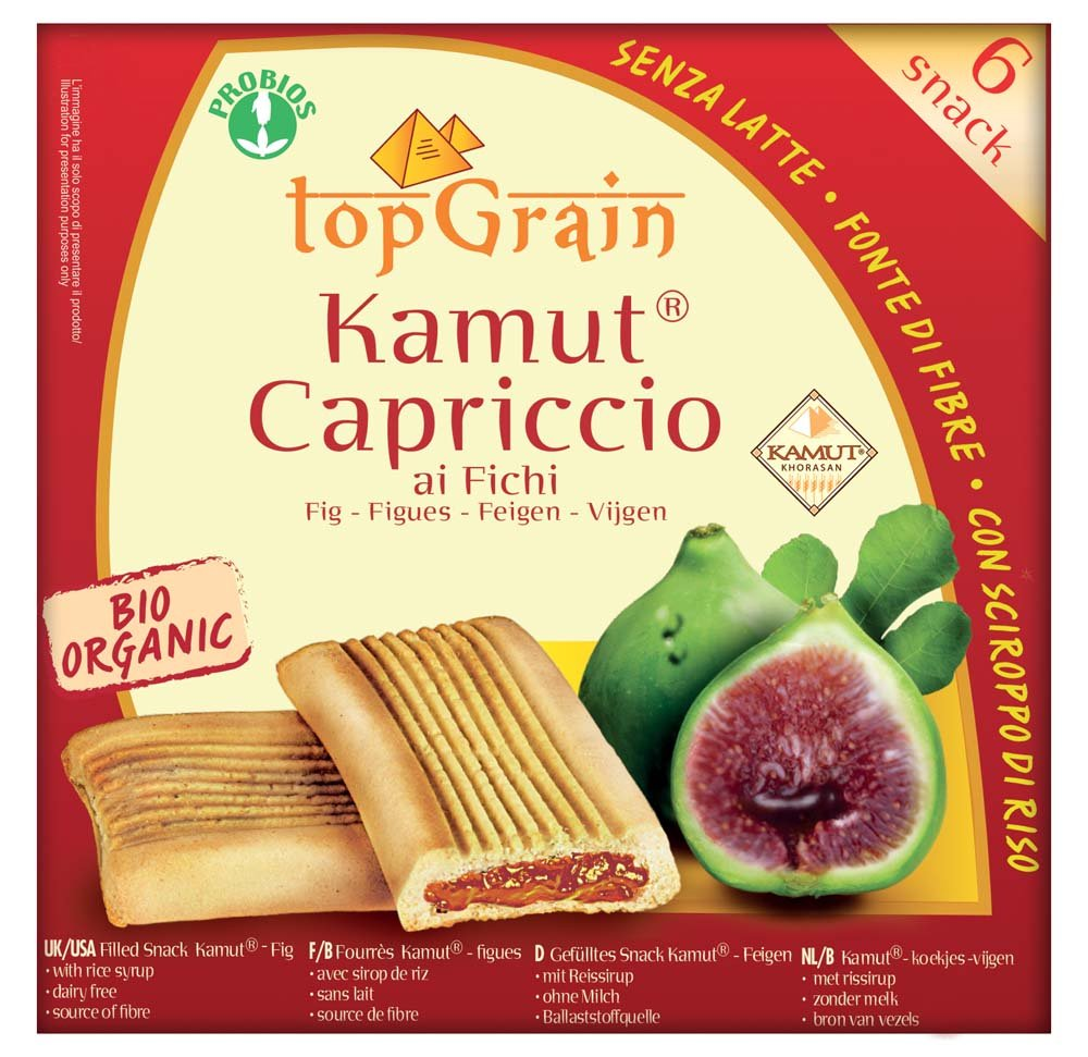 Probios Top Grain Galleta de Trigo Khorasan Kamut Rellena de Higos - 10 paquetes: Amazon.es: Alimentación y bebidas
