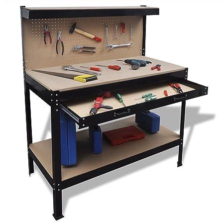 Pleasing Garage Workshop Work Bench Table Workstation Workbench Steel Squirreltailoven Fun Painted Chair Ideas Images Squirreltailovenorg
