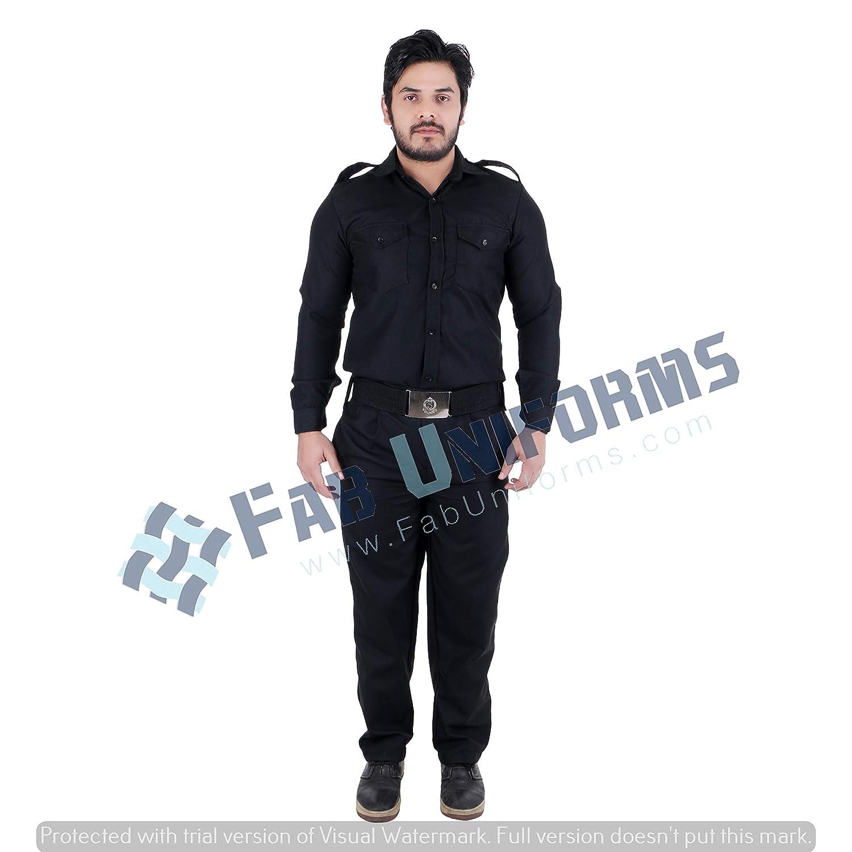 54fa9414 FAB UNIFORMS Security Guard Trouser (Black, 30): Amazon.in: Industrial &  Scientific