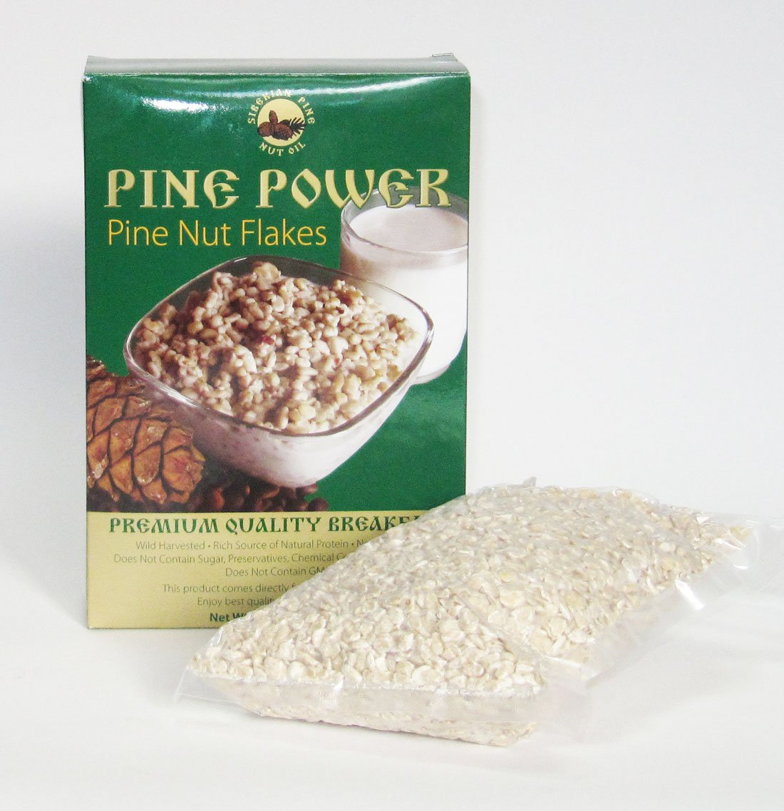 Pine nut flakes - PINE POWER. 17.5 oz./500 g. Raw product. Pressed from wild harvested, organic pine nuts.